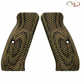 Guancette per CZ75 Palm Swell Diamond Backs Hyena Brown  - VZ GRIPS
