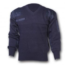 Maglione security misto lana collo a punta - UDB