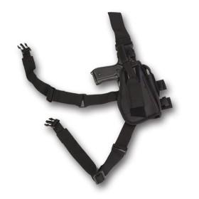 Fodero pistola da gamba colore Nero -UDB