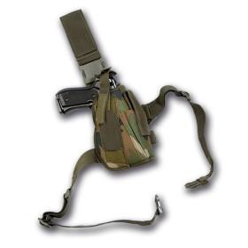 Fodero pistola da gamba colore Woodland - UDB
