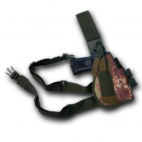 Fodero pistola da gamba colore Vegetato - UDB
