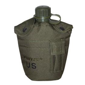 Borraccia in plastica mod. US. ARMY (1lt) colore verde - UDB