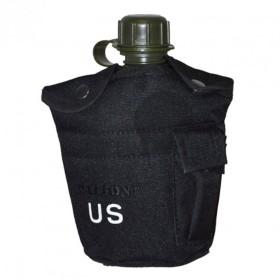 Borraccia in plastica mod. US. ARMY (1lt) colore Nero - UDB