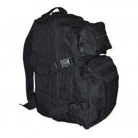 Zaino tattico con predisposizione per borsa idratante colore Nero - UDB