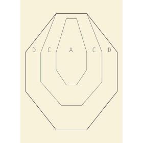 Sagoma ufficiale I.P.S.C. in carta 48x68 cm.  - BERSAGLIO MOBILE