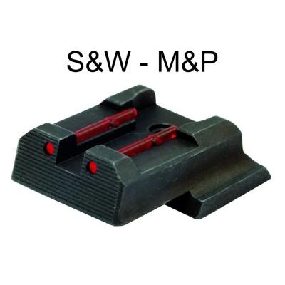 Tacca di mira in fibra rosso per pistola smith & wesson, m&p shield in 9 mm e calibro .40 sw - SAG NATURE