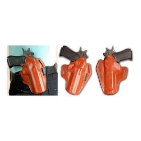 Fondina masc holster in cuoio nera o tan - SAG NATURE