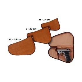 Fodero in pelle scamosciata per pistola tg L - SAG NATURE