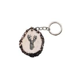 Portachiave base cervo con cervo- SAG NATURE