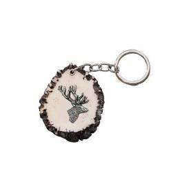 Portachiavi base cervo con cervo testa laterale - SAG NATURE