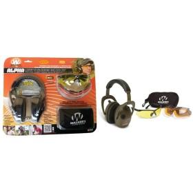 Kit cuffia elettronica ed occhiali con lenti cambiabili - WALKER'S