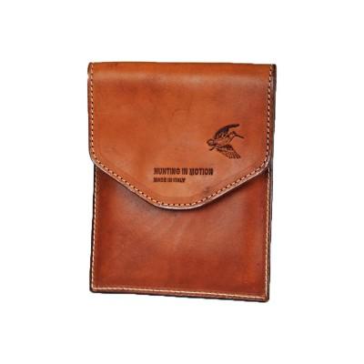 Porta tesserino venatorio in cuoio marrone - PELLETTERIA SPADONI