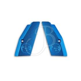 Guance Zigrinate per CZ 75 Sp-01 Colore Blu - CZ