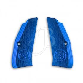 Guance Zigrinate per CZ 75 TS Colore Blu - CZ