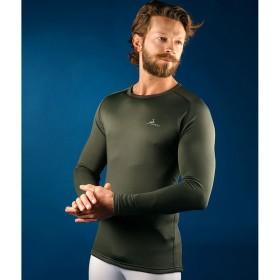 PROGAME-30 Man L/S Crew Neck Shirt FALL/WINTER in green colour - KONUS
