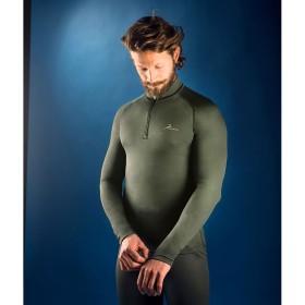 PROGAME-45 Man L/S Turtle Neck Shirt w/Zip FALL/WINTER in green colour - KONUS