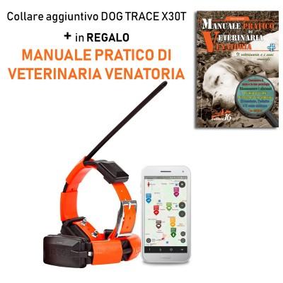 Collare satellitare aggiuntivo per DOG GPS X30T + Manuale Pratico di Veterinaria Venatoria