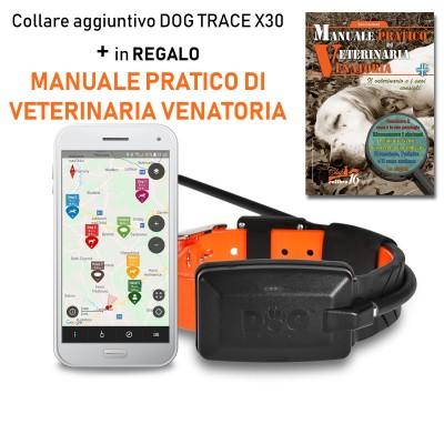 Collare satellitare aggiuntivo per DOG GPS X30 + Manuale Pratico di Veterinaria Venatoria
