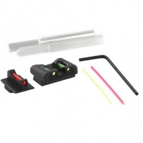 Gun Set of Fiber Optic Sights for Glock for Model: P320 Compact - DAWSON PRECISION