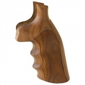 Pau Ferro checkered grip for S&W K&L Square in Wood - HOGUE