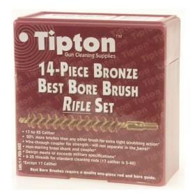Best Bore Brushes. Kit di 14 scovolini per carabina - TIPTON
