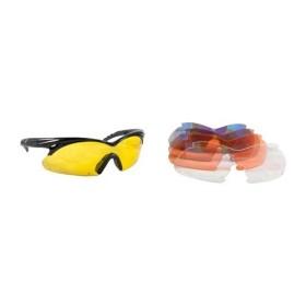 Shooting glasses - Multiple Lens Shift Interchangeable Lens Glasses Black- RADIANS