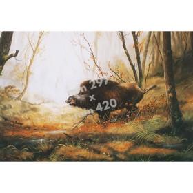 Stampa di caccia da quadro di R. Bianchi - UDB