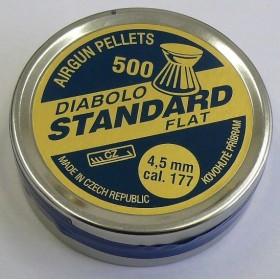 PALLINI 4,5 mm. DIABOLO STANDARD FLAT - 0,53 Grammi - SAG NATURE