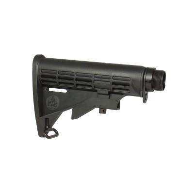 Calcio U6 Commercial-Spec Nero regolabile - Per AR15 e M4 - LEAPERS UTG