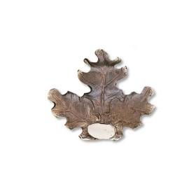 Foglia per trofeo di cinghiale in bronzo - UOMINI DEI BOSCHI