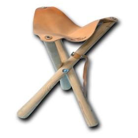 Sediolino in pelle e legno altezza 60 cm - UDB