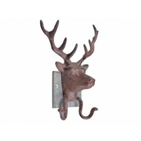 Appendiabiti cervo con supporto in ardesia con ganci - BAVICCHI
