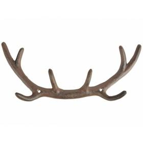 Gancio da parete in ghisa a forma di palco di cervo - BAVICCHI