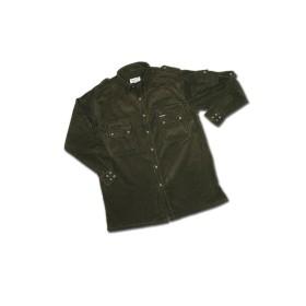 Camicia multitasche in velluto 100% cotone Colore Verde - UDB