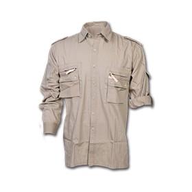 Camicia multitasche in cotone Rip Colore Avana - UDB