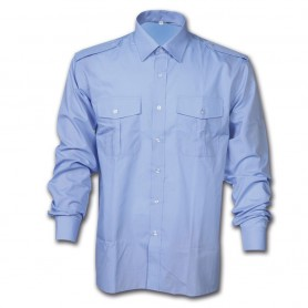 Camicia security in cotone Celeste - UDB