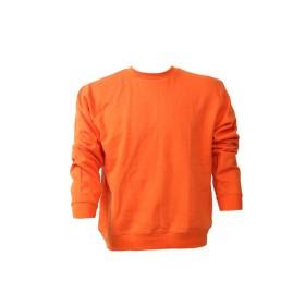 Felpa girocollo 100% cotone Arancio - UDB