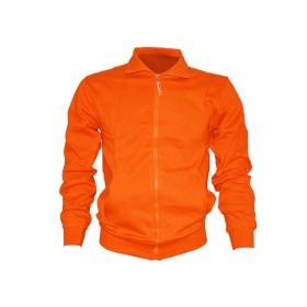 Felpa con zip 100% cotone Arancione - UDB