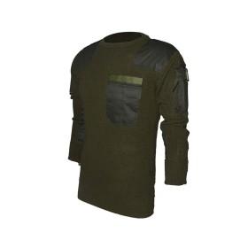 Maglione misto lana con tasche sulle braccia Verde - UDB