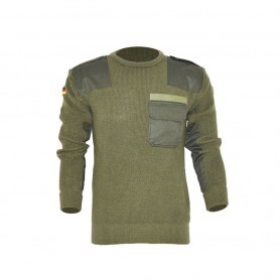 Maglione tedesco misto lana Verde - UDB