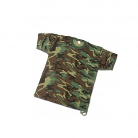 "T-Shirt ""USA STYLE"" misto cotone colore Woodland - UDB"