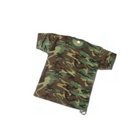 "T-Shirt ""USA STYLE"" misto cotone colore Woodland - UDB"