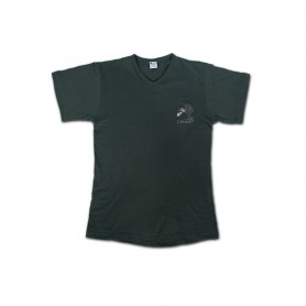 """T-Shirt cotone collo """"V"""" colore Verde - UBD"""