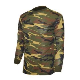 T-shirt cotone manica lunga colore Woodland - UDB