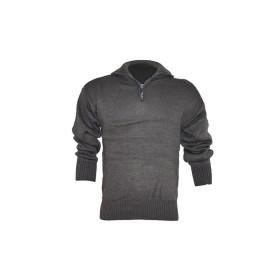 Maglione misto lana 1/2 zip colore Grigio - UDB