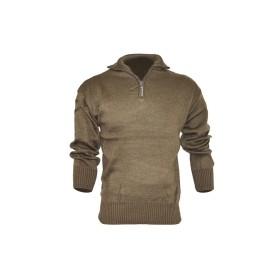 Maglione misto lana 1/2 zip colore Nero - UDB