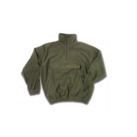 Felpa 1/2 zip pile 280 gr. Mq. con marsupio colore Verde Oliva -UDB
