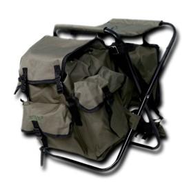 Sediolino da caccia con zaino e borsa termica staccabile colore Verde - UDB